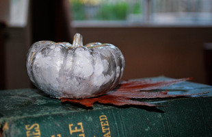 Faux Mercury Glass Pumpkins