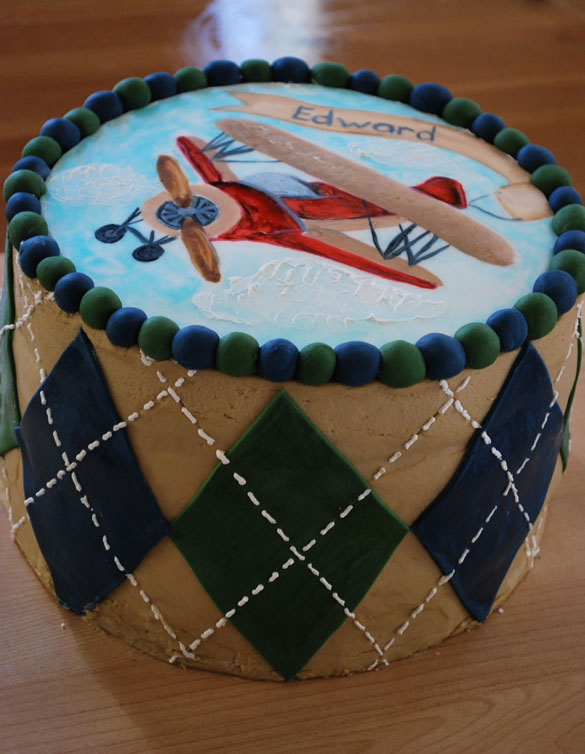 Vintage Airplane cake