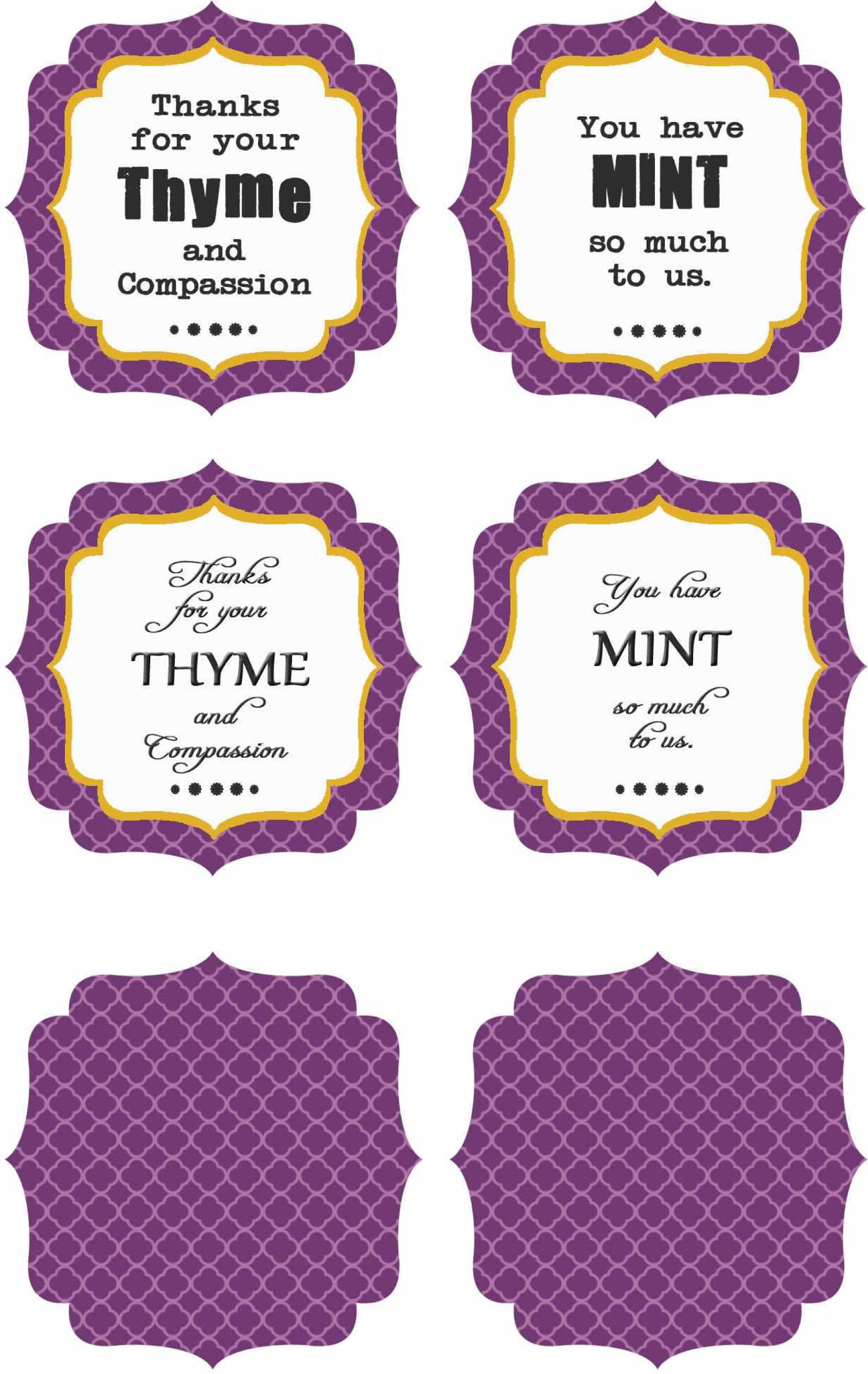 Free Printables : Thank You Labels - Clumsy Crafter