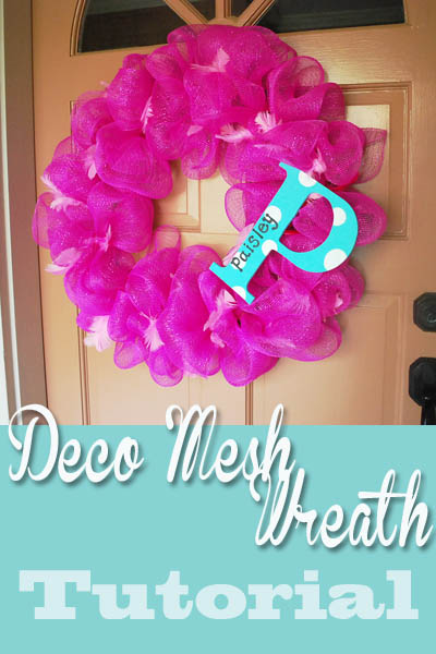 decomeshwreathtutorialheader Deco Mesh Wreath Tutorial