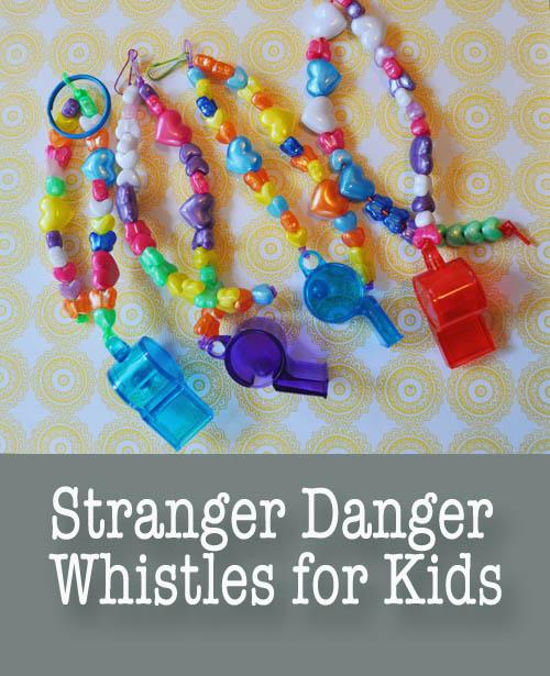 Stranger Danger Whistles for Kids