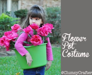 Flower Pot Costume from The Dollar Store