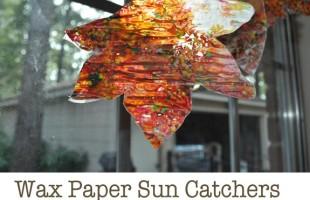 Wax Paper Sun Catchers for Kids