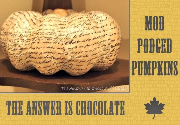 tissue paper mod podged pumpkin