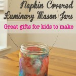 Napkin Covered Mason Jar luminaries 150x150 Crafts
