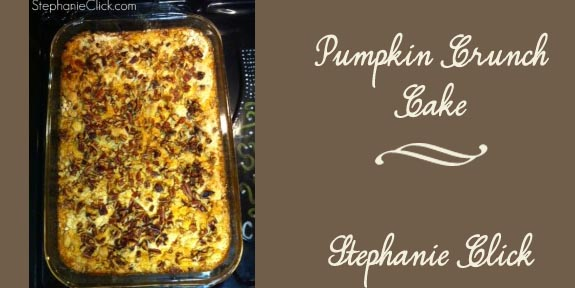 Pumpkin Crunch Cake by StephanieClick.com  Food and Fall in the South
