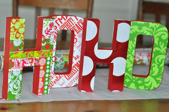 Wrapping paper letter decorations clumsy crafter for Decoration 11 letters
