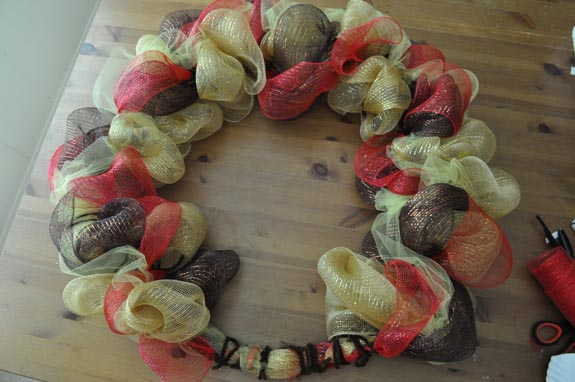 thanksgiving mesh wreath Turkey Mesh Wreath
