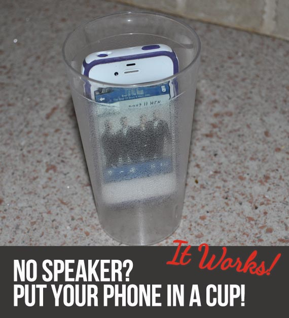 Amplify your phone's sound by putting it in a cup