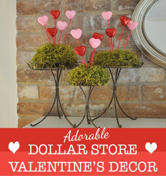 Valentine's Dollar Store Decor