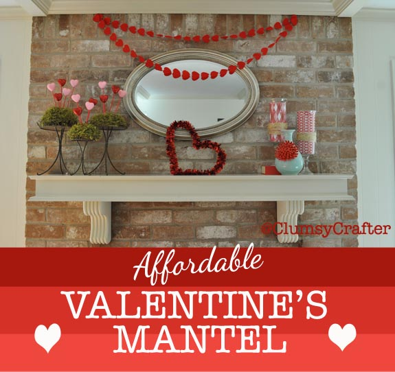 Valentines Mantel from Clumsy Crafter