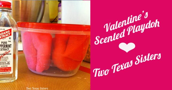 Valentine's Scented Playdough by Two Texas Sisters