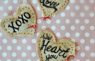 Burlap Heart Pouches
