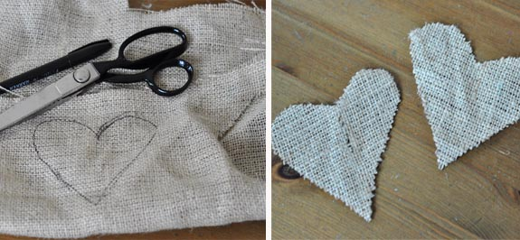 burlap pouch how to