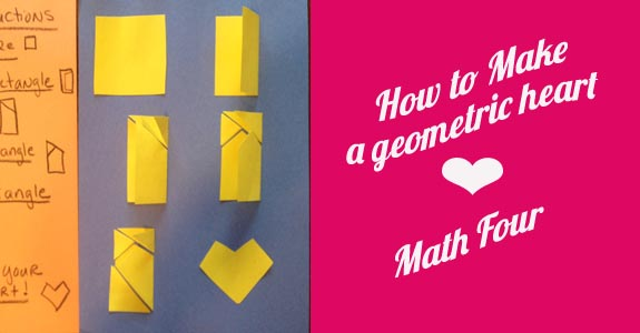 how to make a geometric heart by Math Four