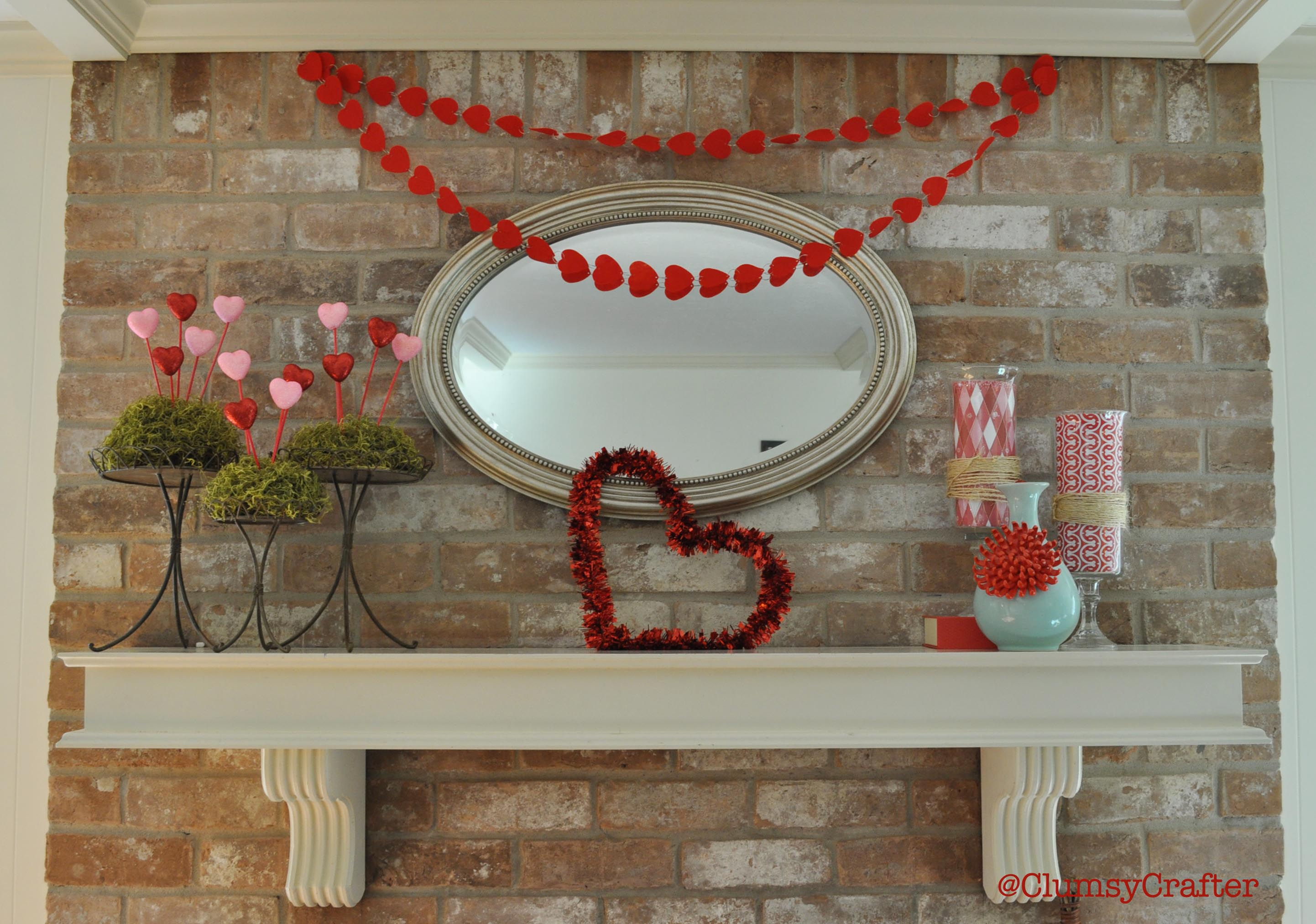 valentines day mantle decorations