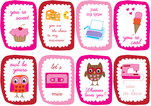 Free Printable Valentines Cards a lot of them Clumsy Crafter – Boy Valentine Cards