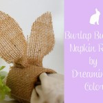 Bulap Bunnies Napkin Rings by Dreaming n color 150x150 Crafts