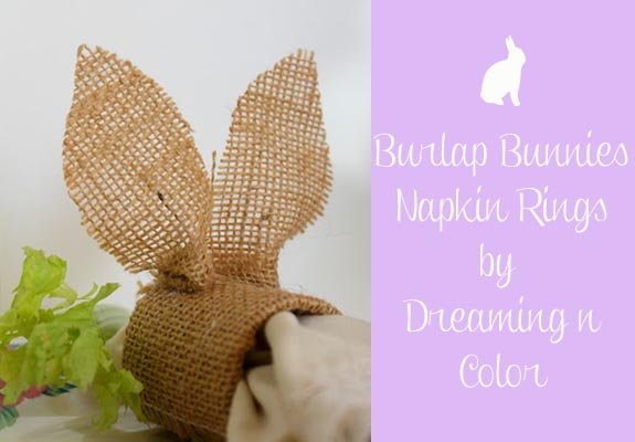 Bulap Bunnies Napkin Rings by Dreaming n color