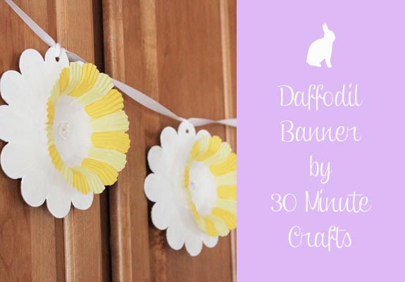 Daffodil Banner by 30 Minute Crafts