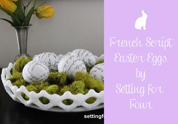 French Script Easter Egg Tutorial by Setting for Four