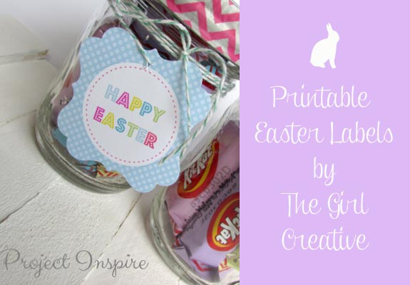 Printable Easter Labels by The Girl Creative