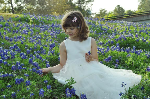 Clara in Bluebonnets - Clumsy Crafter