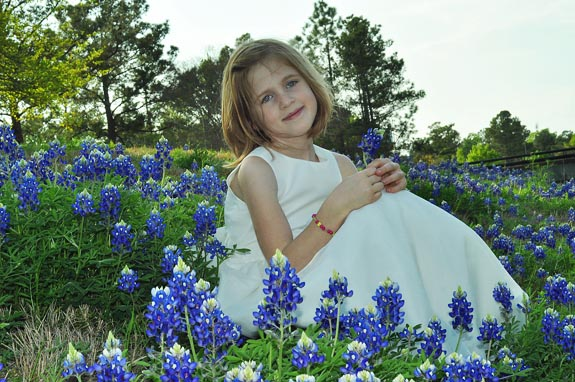 Grace in the Bluebonnets - Clumsy Crafter