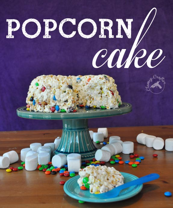 Popcorn Cake from Clumsy Crafter