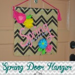 Spring Door Hanger by Clumsy Crafter 150x150 Crafts