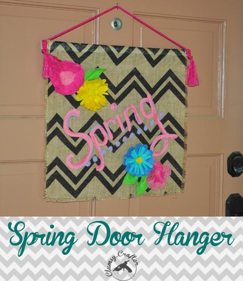 Spring Door hanger by Clumsy Crafter