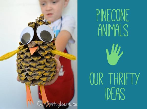 pinecone Animals by Our Thrifty Ideas