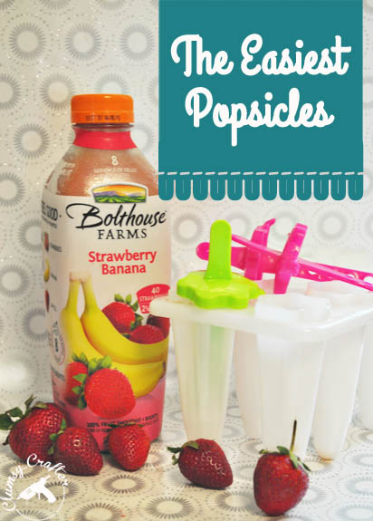 The Easiest popsicles and healthy from Clumsy Crafter