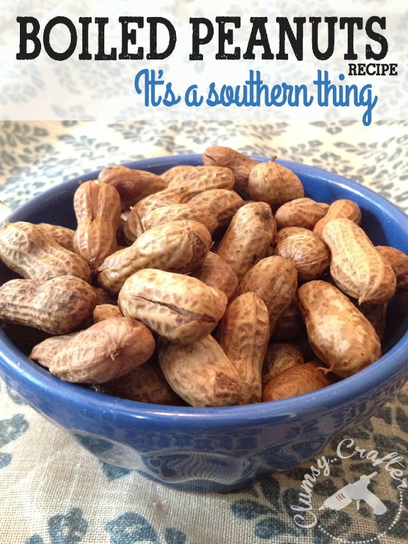 Easy Boiled Peanuts southern food recipe from Clumsy Crafter