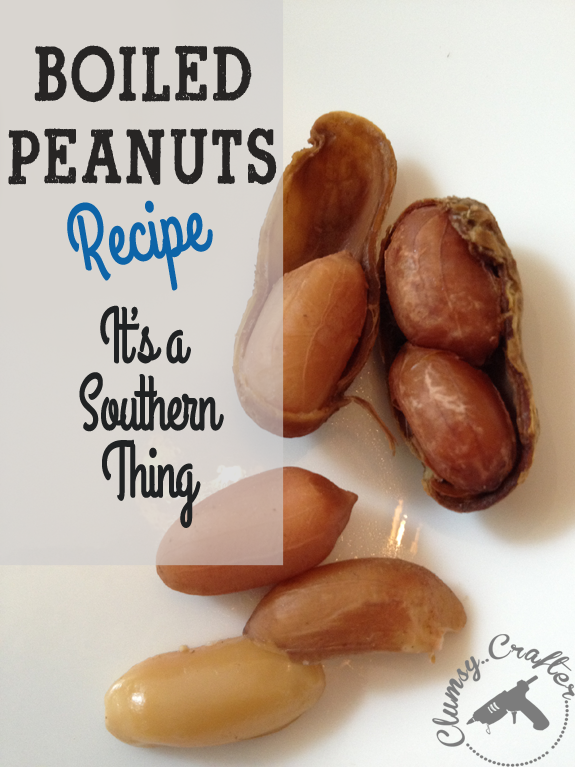 Boiled Peanuts Recipe from Clumsy Crafter
