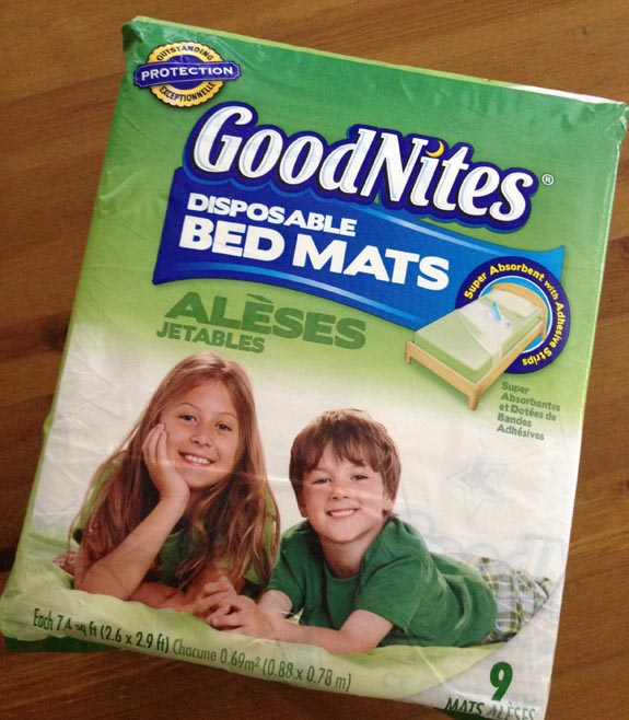 GoodNites Bed Mats, Great For Taking On Trips In Case Your Child Wets The  Bed