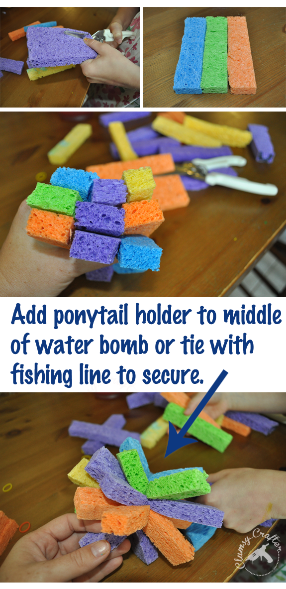 How to make homemade Water Bombs from Clumsy Crafter