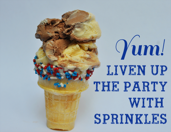 Liven up the party with Sprinkle Cones