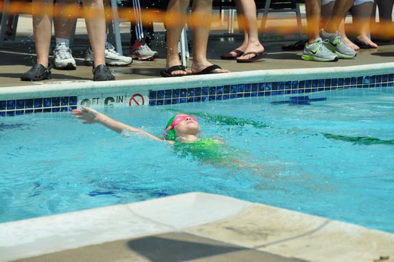 swim team backstroke