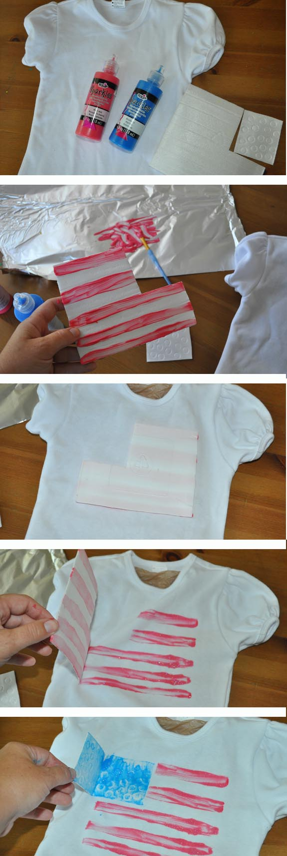 Make a Flag shirt for 4th of July in 5 Minutes!