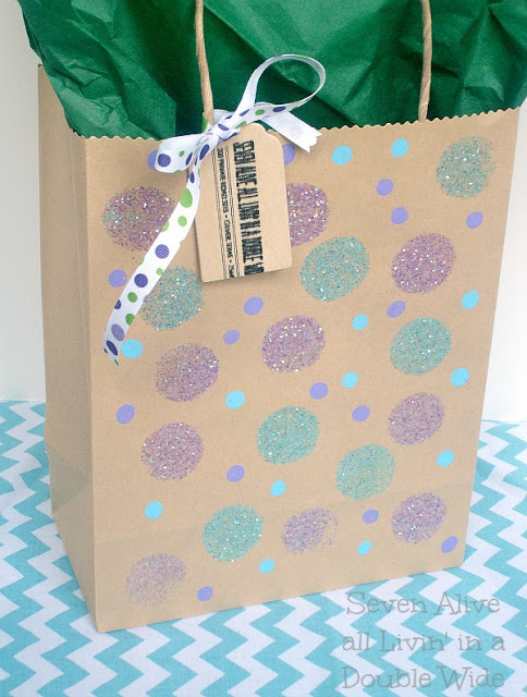 Gift Bag Dressed Up 10 Crafts To Make With Mod Podge