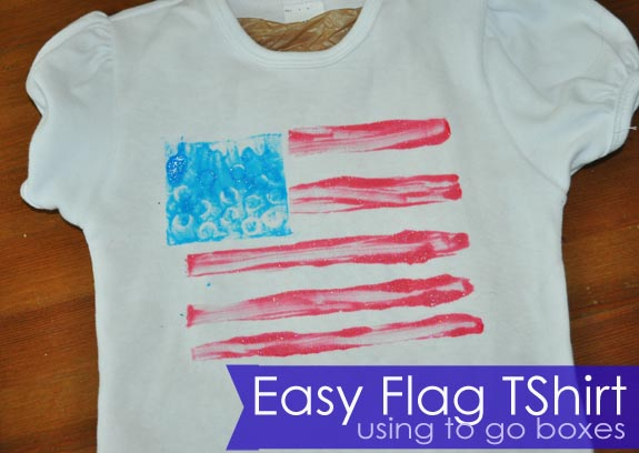 Make flag Tshirt using to go boxes