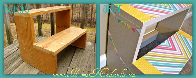 Step Stool Makeover BA 10 Crafts To Make With Mod Podge