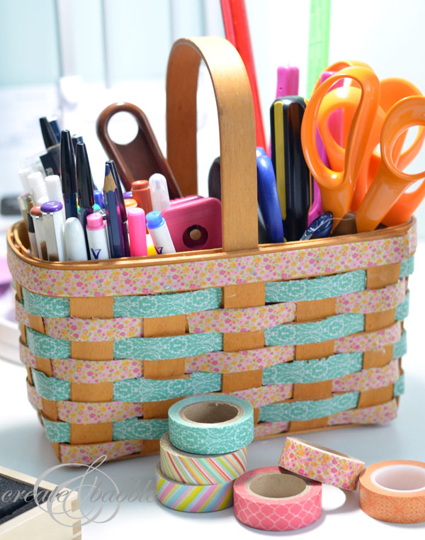 Washi Tape Basket from Create and Babble