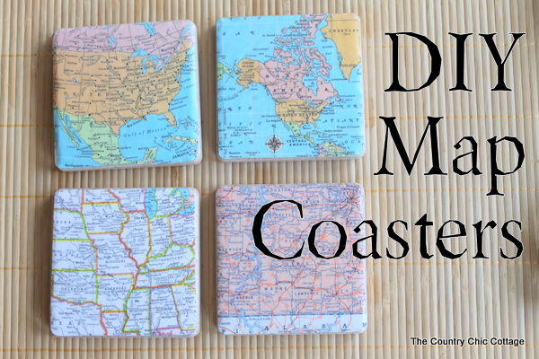 diy map coasters 10 Crafts To Make With Mod Podge