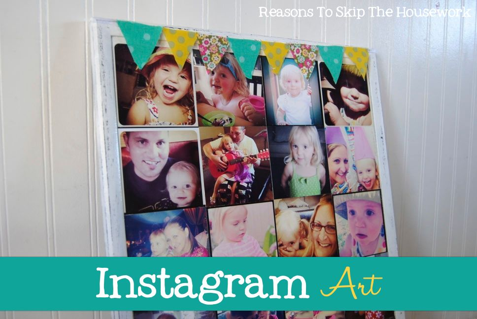 instagram art 10 Crafts To Make With Mod Podge