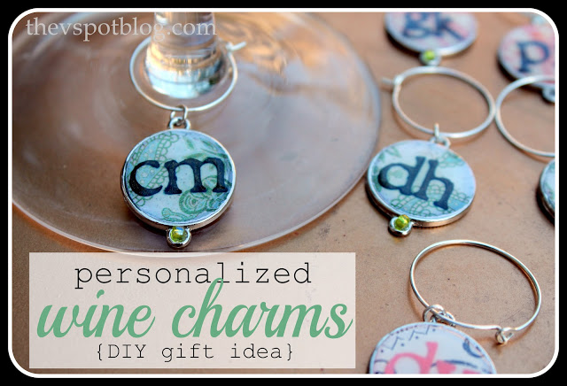 Wine Charms made using Mod Podge