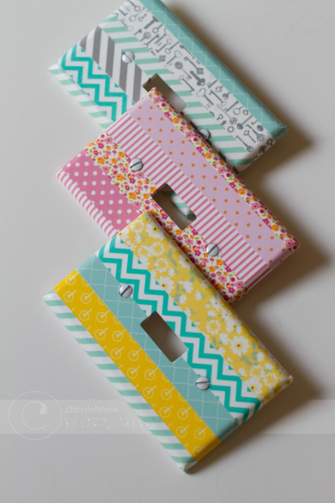 Washi Tape Light Switches
