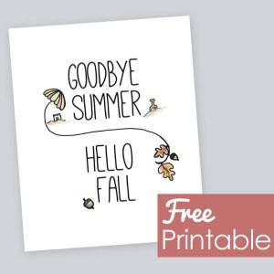 Hello Fall Free Printable