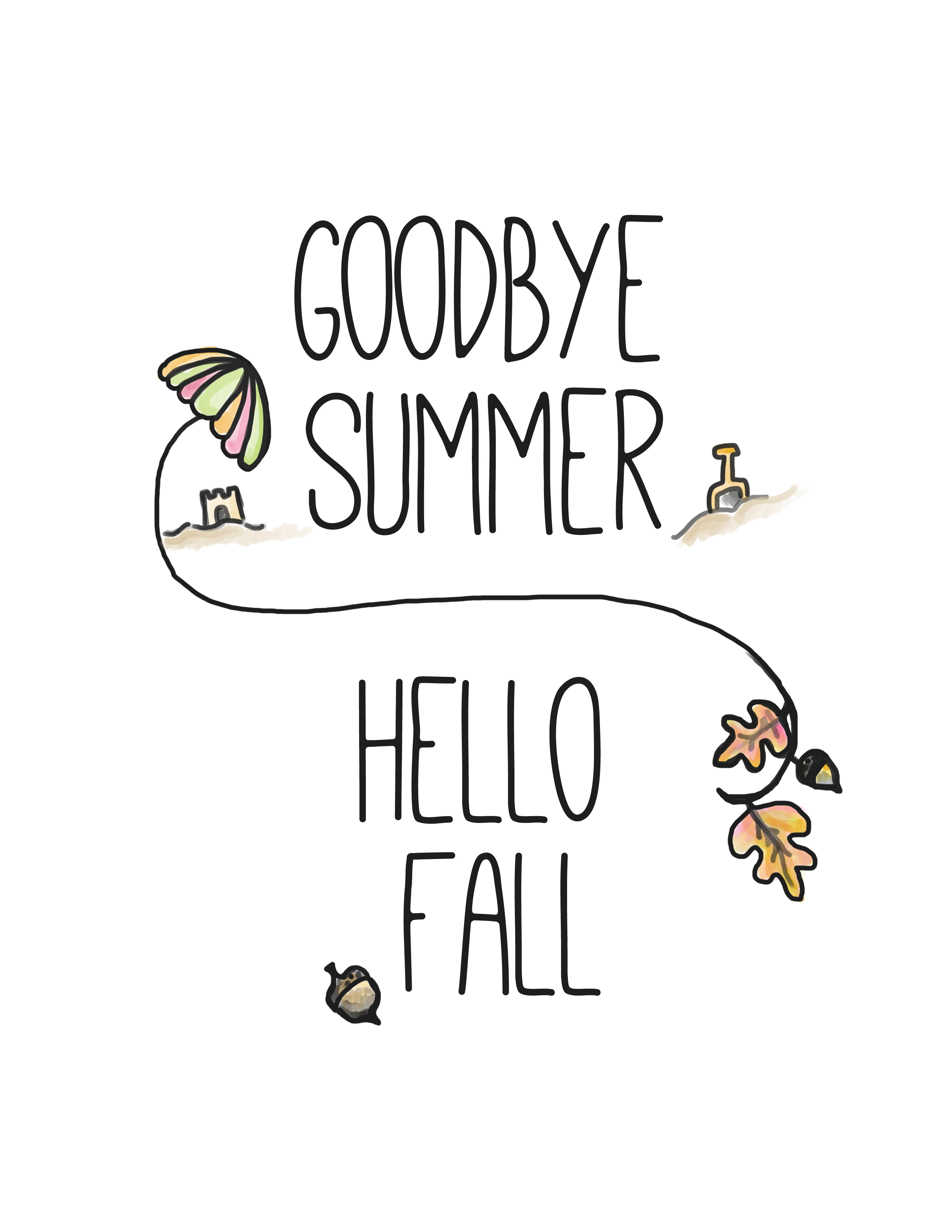 Hello Fall Free Printable - Clumsy Crafter